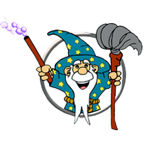 cleaning wizard main no background